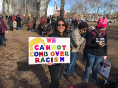 Philly Women's March 2018 - We cannot comb over #racism