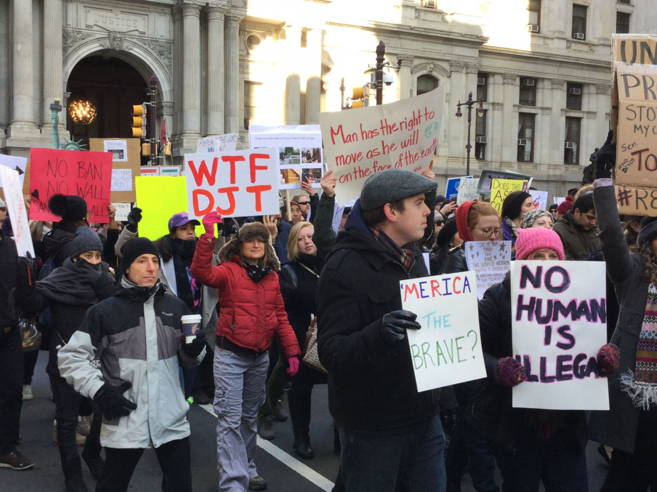 Immigrant Rights Protest - Philadelphia - February 4, 2017 - WTF DJT