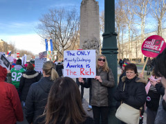 Philly Women's March 2018 - The only #minority destroying America is the rich