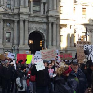 Immigrant Rights Protest - Philadelphia - February 4, 2017 - City Hall