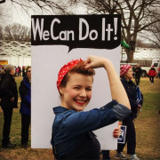 #protestsigns #womensmarch #rosietheriveter We Can Do It! Loved this. #feminism #wecandoit