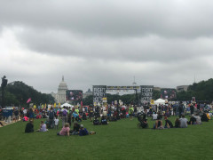 Poor People's Campaign - with Capitol behind