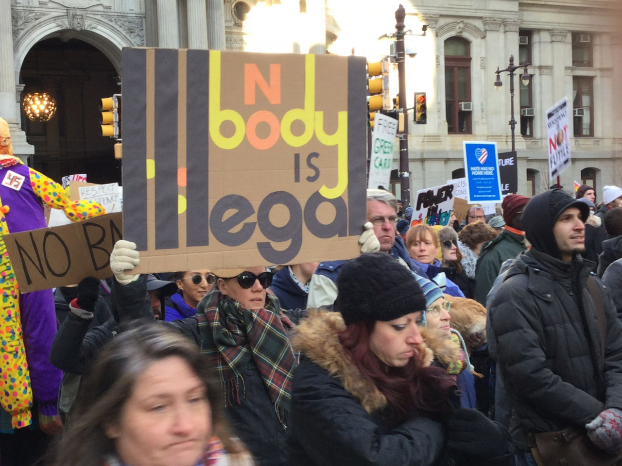Immigrant Rights Protest - Philadelphia - February 4, 2017 - Nobody is Illegal