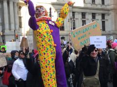 Immigrant Rights Protest - Philadelphia - February 4, 2017 - Trump Clown