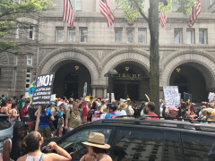 People's Climate March 2017 - In front of Trump International Hotel