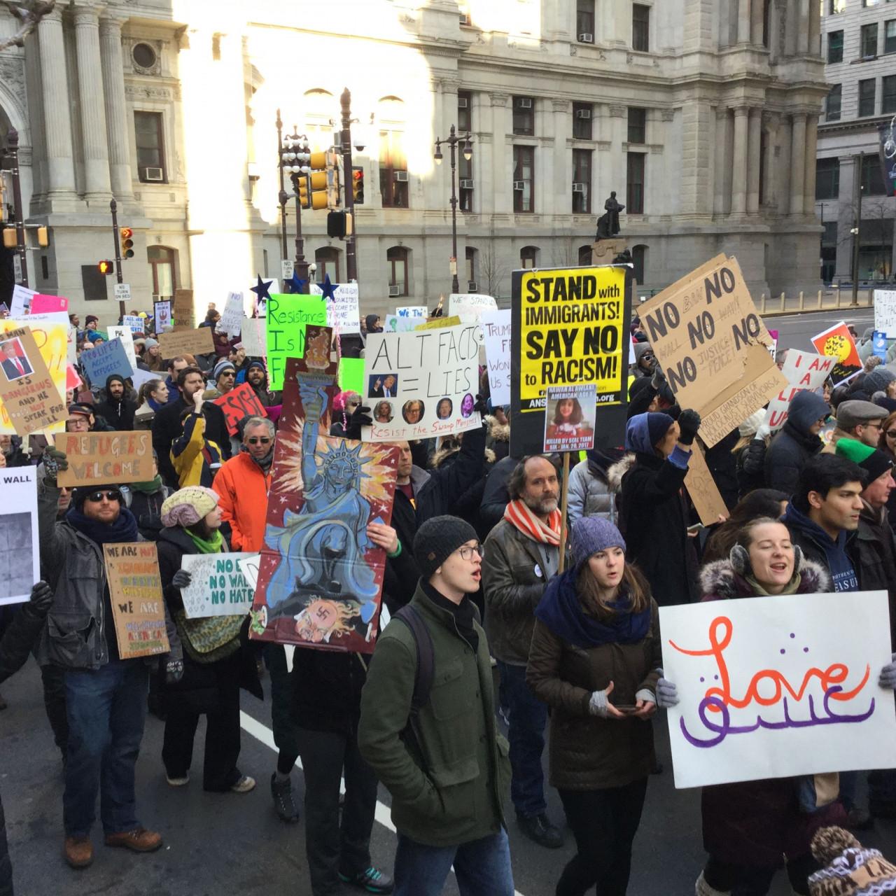 Immigrant Rights Protest - Philadelphia - February 4, 2017 - Love
