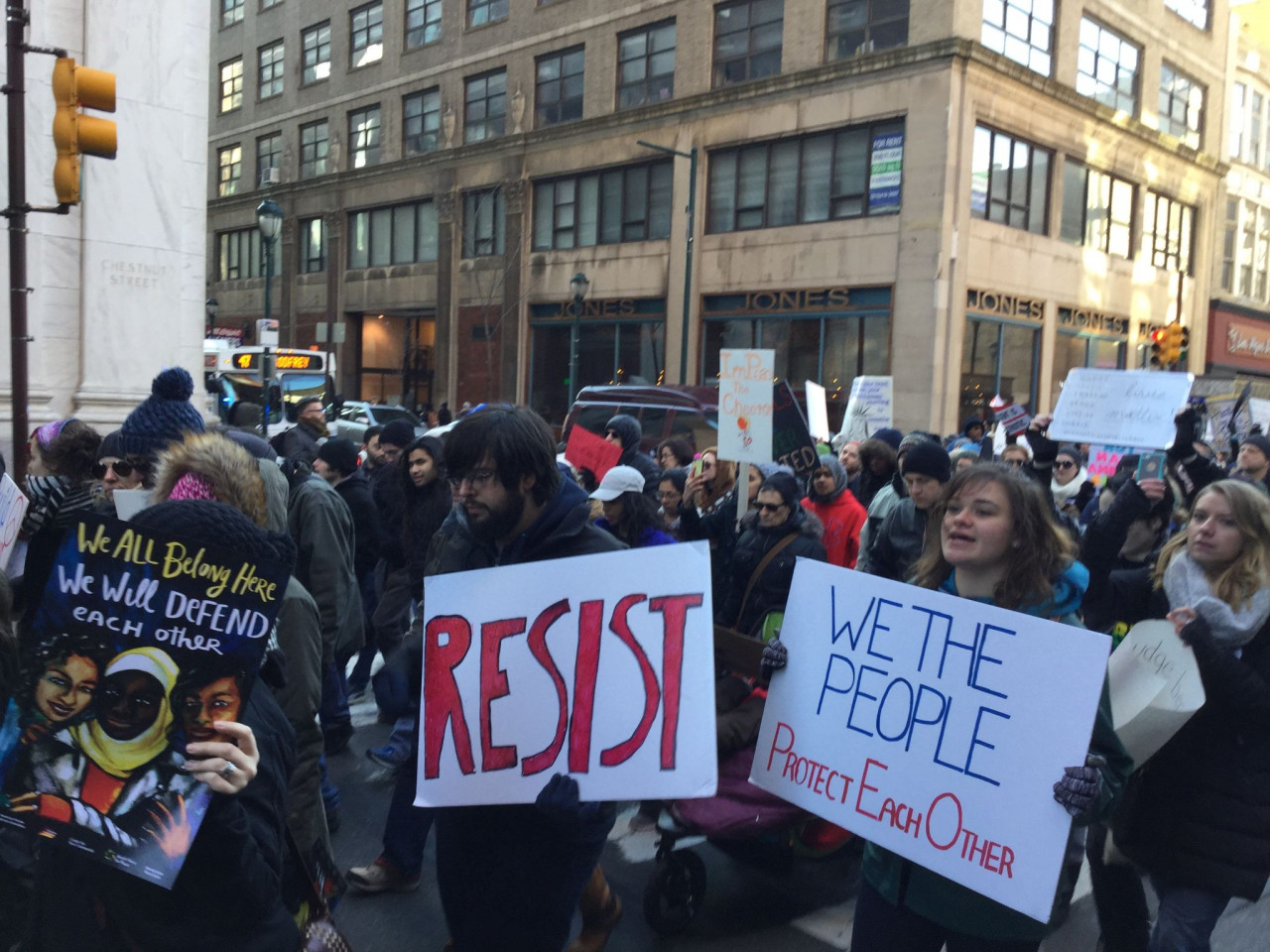 Immigrant Rights Protest - Philadelphia - February 4, 2017 - We The People Protect Each Other