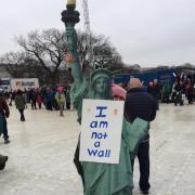 #protestsigns #womensmarch #ladyliberty I am not a wall. #buildbridgesnotwalls #immigration #weareallimmigrants #wellmostofus