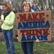 #protestsigns #womensmarch Make America Think Again #maga #womensmarchonwashington