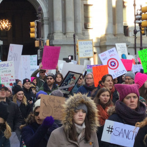 Immigrant Rights Protest - Philadelphia - February 4, 2017 - Pussy Hat
