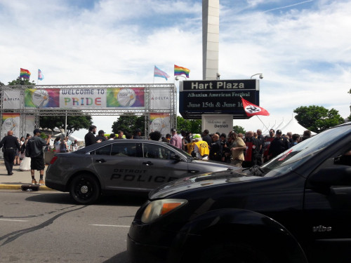 Rainbow Warriors Drive Nazis Out of Motor City Pride