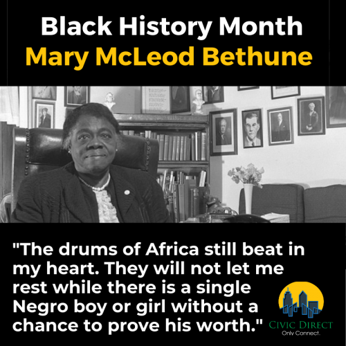 Black History Month - Mary McLeod Bethune