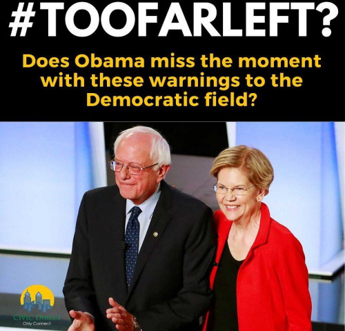 Does Obama Miss the Moment with #toofarleft?