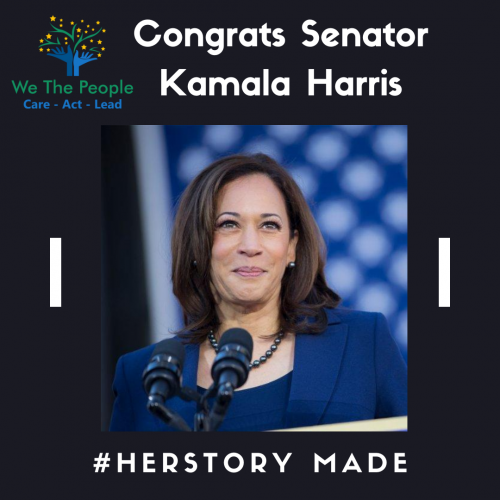 Congratulations  Sen. Kamala Harris for Making HerStory